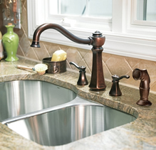 Moen Vestige Two Handle High Arc Kitchen Faucet