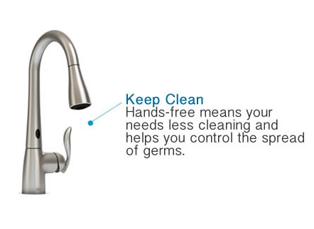 Keep Your MOen Faucet Clean with Hands Free Use - Less Germs