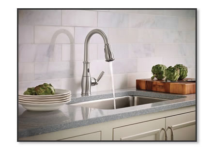Moen Brantford with MotionSense in Stainless Steel