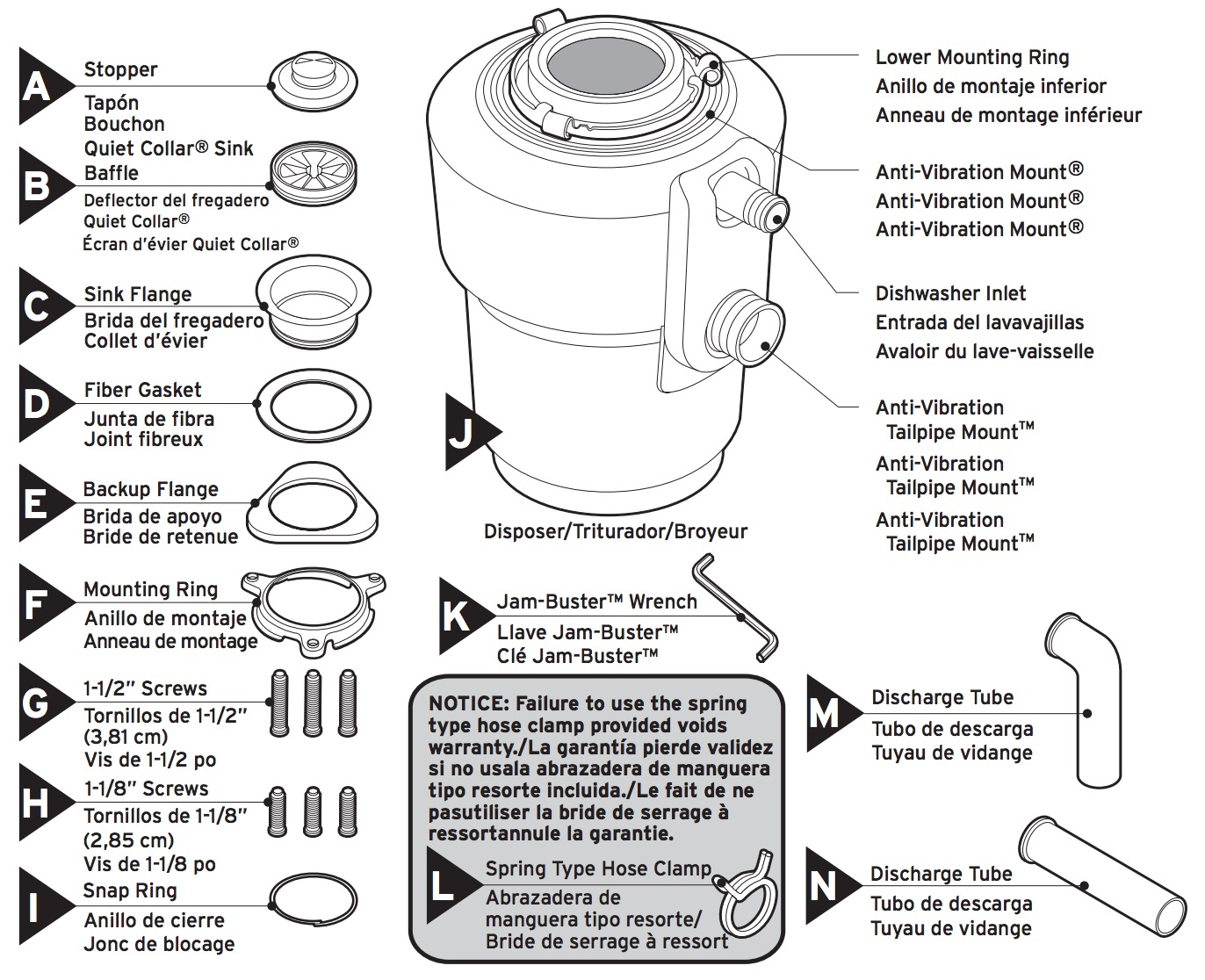 Insinkerator Evolution Excel Garbage Disposal