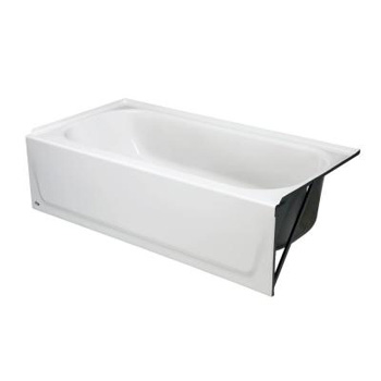 Bootz 011-2340-96 Maui 5 Foot Right Hand Drain Deep Soaking Bathtub - Biscuit (Pictured in White)
