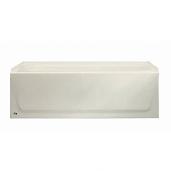 Bootz 011-2365-96 Aloha 5' Left Hand Drain Slip Resistant Bathtub - Biscuit (Pictured in White)