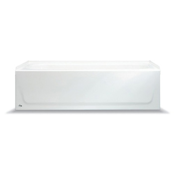 Bootz 011-7001-00 Bootzcast 60 inch  x 30 inch  Left Hand Drain Standard Outlet Bath Tub with Slip Resistant Floor - White