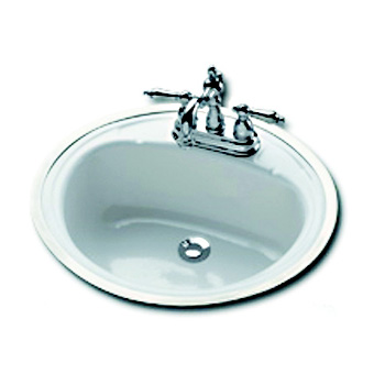 Bootz 021 2440 00 Oval Countertop Lavatory Sink White