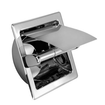 Newport Brass 10-88-26 Recessed Tissue Holder with Cover - Polished Chrome