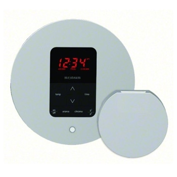 Mr. Steam MS-ITPLUS-RD-BN iTempo Plus Control Pad with Round Cover - Brushed Nickel (Pictured in Polished Chrome)