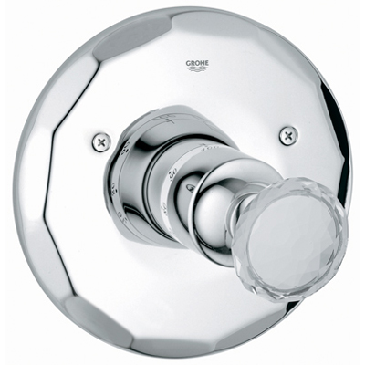 Grohe 19.265.VP0 Kensington Thermostatic Shower Valve Trim w/Swarovski Crystal Handle - Chrome