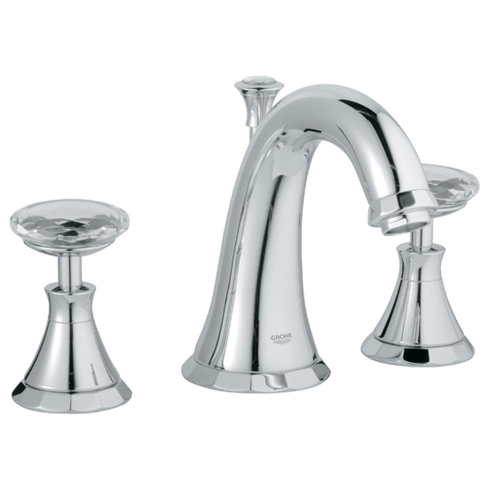 Grohe 20.124.000 Kensington Widespread Lavatory Faucet - Chrome (Pictured w/Handles  Not Included)