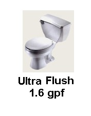 Gerber 21-302 Ultra Flush Round Front Two Piece Toilet - White