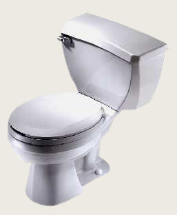 Gerber 21-317 Ultra Flush ADA Elongated Two Piece Pressure Assist Toilet with 10