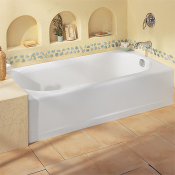 American Standard 2391.202.020 Princeton Americast Recess Bath, RHO - White