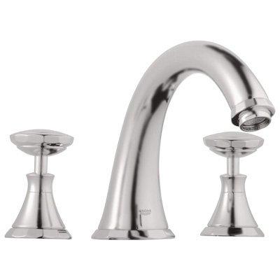 Grohe 25.074.EN0 Kensington Roman Tub Filler - Infinity Brushed Nickel (Pictured w/Handles -- Not Included)