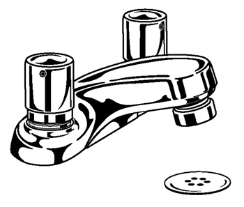 2517-HDF Delta Commercial HDF Series Metering & Self-Close Lavatory Centerset Faucet Chrome