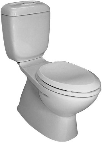 270W-EL Caroma Caravelle Elongated Dual Flush Toilet - White