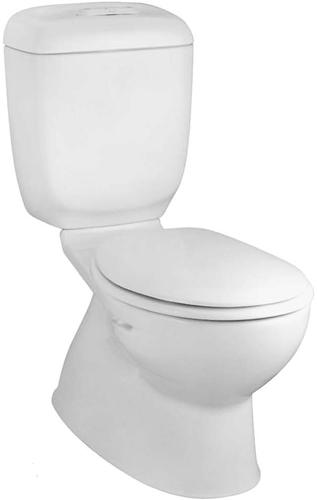 270W-RF Caroma Caravelle Round Front Dual Flush Toilet - White
