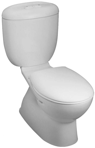 270W-RF Caroma Reflection Round Front Dual Flush Toilet - White