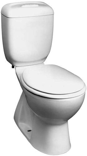 305B-RF Caroma Caravelle Round Front Dual Flush Toilet - Biscuit (Pictured in White)