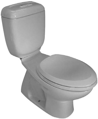 305W-EL Caroma Caravelle Elongated Dual Flush Toilet - White