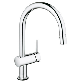 Grohe 31359000 Minta Touch Kitchen Faucet w/ Pullout Spray - Starlight Chrome