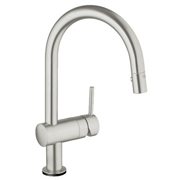 Grohe 31359DC0 Minta Touch Kitchen Faucet w/ Pullout Spray - SuperSteel