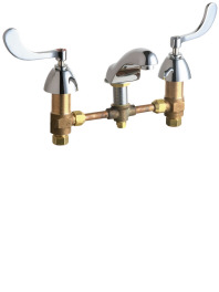 404-317CP Chicago Faucets Commercial Lavatory Widespread Faucet - Chrome