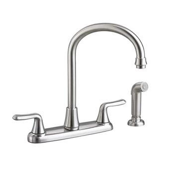 American Standard 4275.551.075 Colony Soft Gooseneck Kitchen Faucet with Side Spray - Stainless Steel
