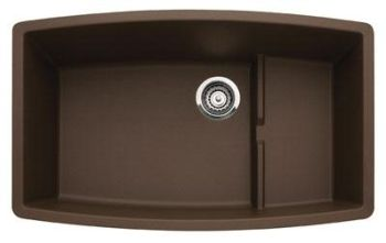 Blanco 440063 Cascade Super Single Bowl Undermount Kitchen Sink - Cafe Brown