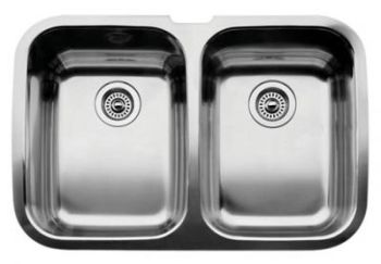 Blanco 440083 BlancoSupreme 2 Double Bowl Undermount Kitchen Sink - Stainless Steel