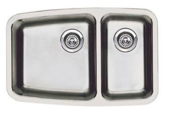Blanco 440101 Performa Small 1 & 1/2 Bowl Undermount Kitchen Sink - Stainless Steel