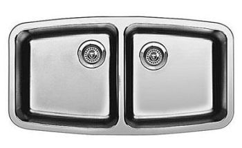 Blanco 440109 Performa Small Double Bowl Undermount Kitchen Sink - Stainless Steel