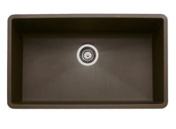 Blanco 440147 Precis Super Single Bowl Undermount Silgranit Kitchen Sink - Cafe Brown