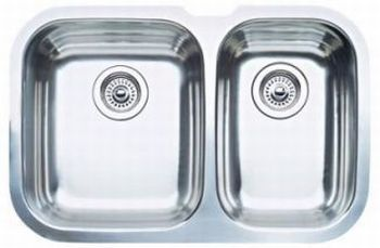 Blanco 440161 Blanconiagara 1-1/2 Bowl Undermount Kitchen Sink - Stainless Steel