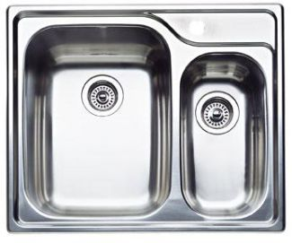 Blanco 440162 Blancosupreme Specialty 1-1/2 Bowl Drop-In Kitchen Sink - Stainless Steel
