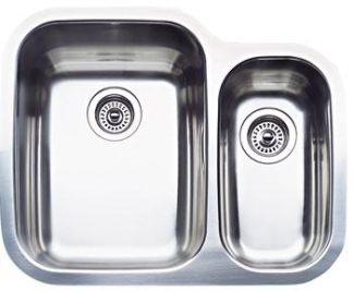 Blanco 440163 Blancosupreme 1-1/2 Bowl Kitchen Sink - Stainless Steel