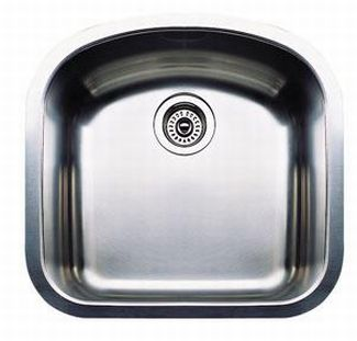 Blanco 440164 Blancowave Plus Single Bowl Undermount Kitchen Sink - Stainless Steel