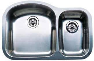 Blanco 440167 Blancowave Plus One-Piece Undermount Kitchen Sink - Stainless Steel