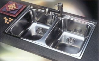 Blanco 440170 Blancosupreme 2 Equal Double Bowl Drop-In Kitchen Sink - Stainless Steel