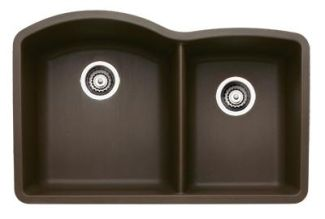 Blanco 440177 Diamond 1-3/4 Bowl Silgranit II Undermount Kitchen Sink - Cafe Brown