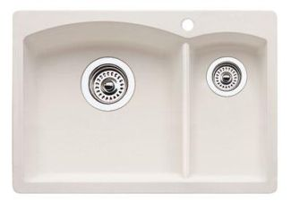 Blanco 440191 Diamond Silgranit II Prep Sink Drop-In - Biscuit