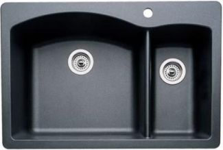 Blanco 440199 Diamond 1-1/2 Bowl Drop-In Silgranit II Kitchen Sink - Anthracite