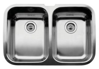 Blanco 440207 Blancosupreme 2 Equal Double Bowl Undermount Sink - Stainless Steel