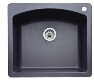 Blanco 440210 Diamond Single Bowl Drop-In Silgranit II Kitchen Sink - Anthracite