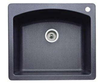 Blanco 440210 diamond single bowl drop in silgranit ii kitchen sink blanco 440210 diamond single bowl drop in silgranit ii kitchen sink anthracite workwithnaturefo