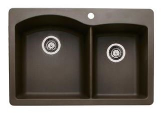 Blanco 440213 Diamond 1-3/4 Bowl Silgranit II Drop-In Kitchen Sink - Cafe Brown
