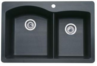 Blanco 440215 Diamond 1-3/4 Bowl Silgranit II Drop-In Kitchen Sink - Anthracite