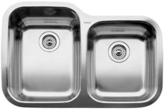 Blanco 440234 Blancosupreme 1-3/4 Bowl Undermount Kitchen Sink - Stainless Steel