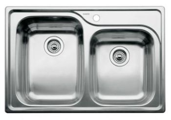 Blanco 440239 Blancosupreme 1-3/4 Bowl Drop-In Kitchen Sink - Stainless Steel