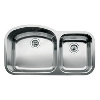 Blanco 440240 Blancowave One-Piece Undermount Kitchen Sink - Stainless Steel