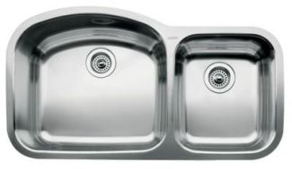 Blanco 440242 Blancowave One-Piece Undermount Kitchen Sink - Stainless Steel