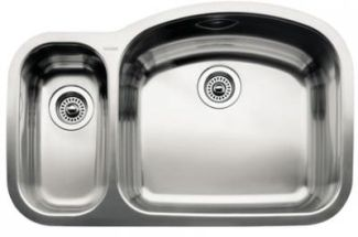 Blanco 440245 Blancowave One-Piece Undermount Kitchen Sink - Stainless Steel